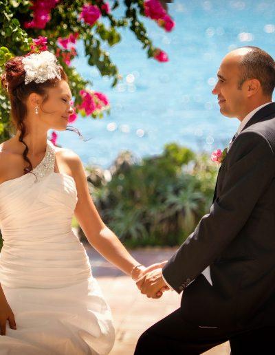 Sesión de fotos de boda en exteriores en Dña Lola